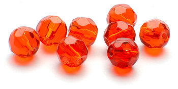 Darts Glass Bead Faceted Red