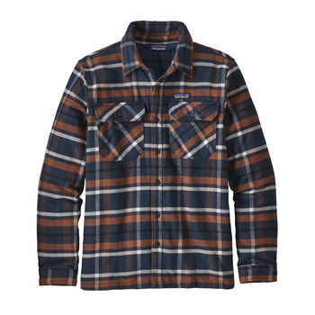Patagonia Men's Insulated Fjord Flannel Jacket Tom's Place: Navy Blue