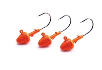 Svartzonker Jig Head Short Fl. Orange 4/0 - 3 pack