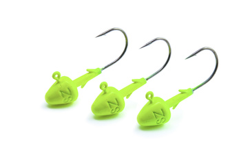 Svartzonker Jig Head Short Fl. Yellow 4/0 - 3 pack