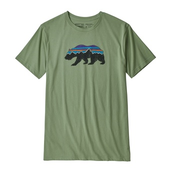 Patagonia Men's Fitz Roy Bear Organic Cotton T-Shirt Matcha Green
