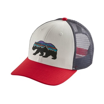 Patagonia Fitz Roy Bear Trucker Keps White/Red