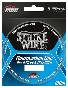 Strike Wire Fluorocarbon -100m Invisible