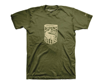 Simms T-Shirt Catch & Release Military