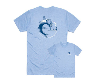 Simms T-Shirt Bow To The King Lt. Blue