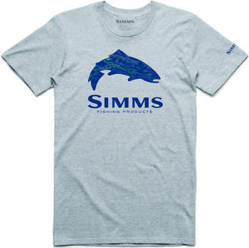 Simms T-Shirt Fire Hole Trout Grey Heather