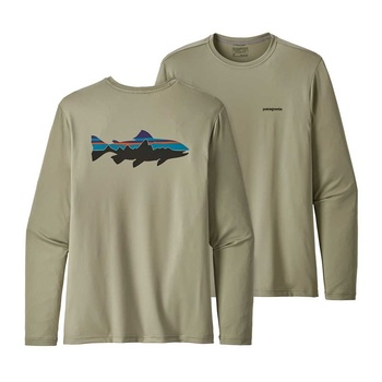 Patagonia Men's Graphic Tech Fish Tee Fitz Roy Trout: Shale