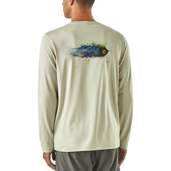 Patagonia Men's Graphic Tech Fish Tee Lucky Fly: Pelican