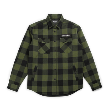 Hooke Canadian Shirt Forest Green & Black