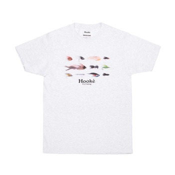 Hooke Season's Flies T-Shirt Ash Grey