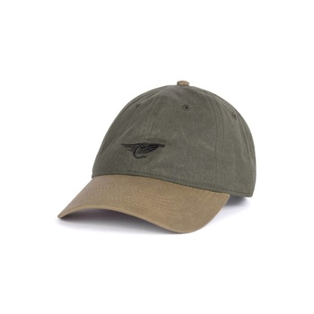 Hooke Fly Waxed Dad Hat Military Green & Beige