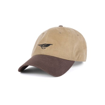 Hooke Fly Waxed Dad Hat Sand & Brown