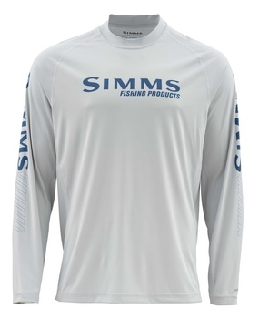 Simms Solarflex Crew Graphic Prints Fast Bass Sterling