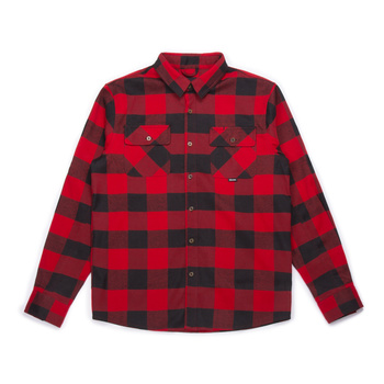 Hooke Canadian Flannel Shirt Red & Black Plaid