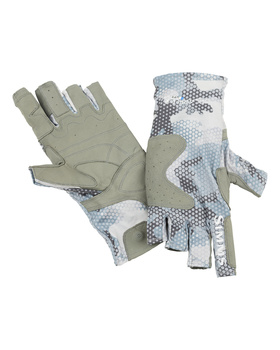 Simms Sflex Guide Glove Hex Flo Camo Grey Blue