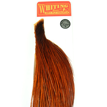 Whiting Silver 1/2 Cape Dyed Natural Brown