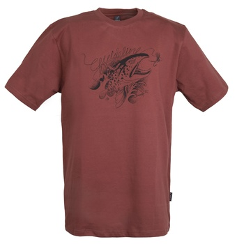 Guideline Angry Trout ECO T-shirt Brick