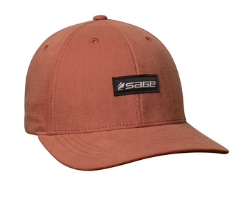 Sage 6-Panel Logo Hat Rust OneSize