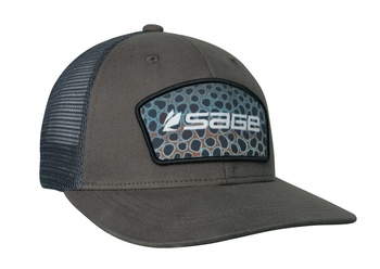 Sage Patch Trucker  Green - Brown Trout One Size