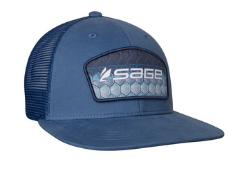 Sage Patch Trucker  Blue -Tarpon One Size