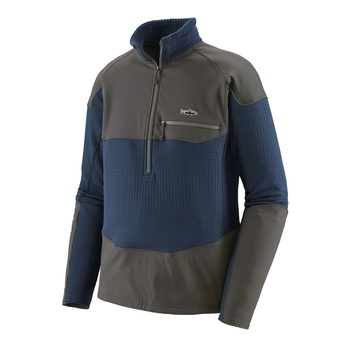 Patagonia Men's Long-Sleeved R1® Fitz Roy 1/4-Zip Stone Blue