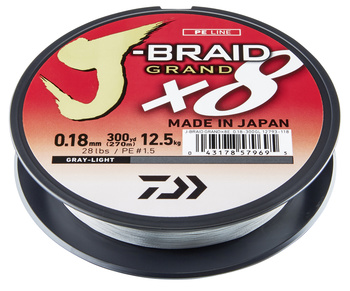 Daiwa J-Braid X8 Grand Grey Flätlina 135m