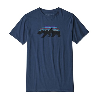 Patagonia Men's Fitz Roy Bear Organic Cotton T-Shirt Stone Blue