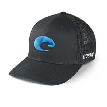 Costa Flex Fit Logo Trucker Hat Black
