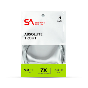 SA Absolute Trout Leader 3-pack 9'