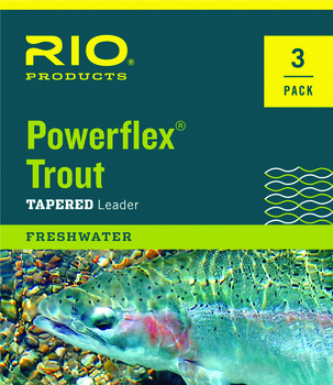 RIO Powerflex Trout 7.5 ft 3-pack 7X Taperade tafsar