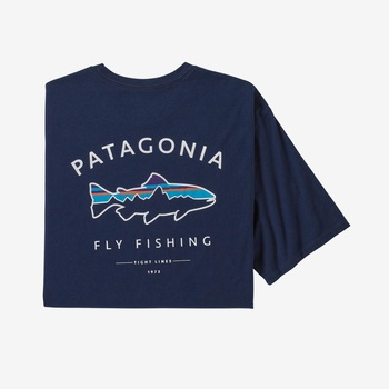 Patagonia Framed Fitz Roy Trout T-Shirt Classic Navy