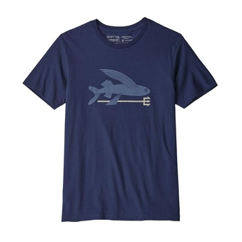 Patagonia Men's Flying Fish Organic Cotton T-Shirt Classic Navy
