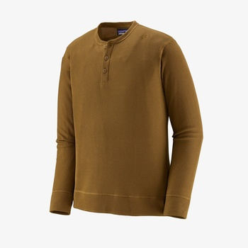 Patagonia M's L/S Waffle Knit Henley Mulch Brown
