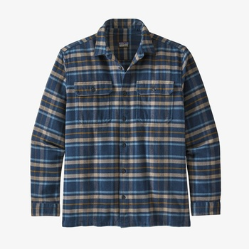 Patagonia Men's Long-Sleeved Fjord Flannel Shirt New Navy