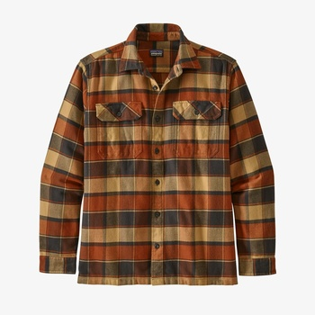 Patagonia Men's Long-Sleeved Fjord Flannel Shirt Burnished Red