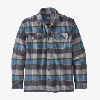 Patagonia Men's Long-Sleeved Fjord Flannel Shirt Pigeon Blue
