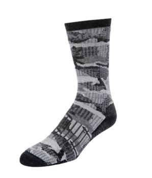 Simms Merino Midweight Hiker Sock Hex Flo Camo Carbon