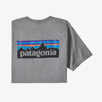 Patagonia Men´s P-6 Logo Responsibili-Tee Gravel Heather