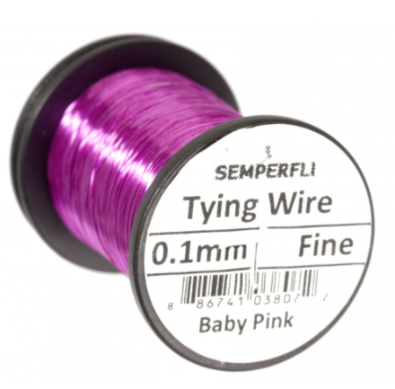 Semperfli Fly Tying Wire 0.1mm - Baby Pink