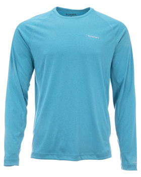 Simms Solarflex Crewneck Solids Meridian Heather