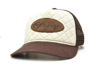 Scott Cap Quilted Leather Patch Brown/Off.White