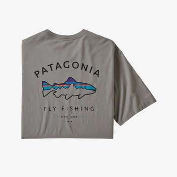 Patagonia Framed Fitz Roy Trout T-Shirt Feather Grey