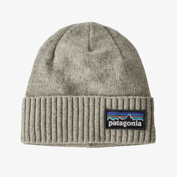 Patagonia Brodeo Beanie P-6 Logo: Drifter Grey