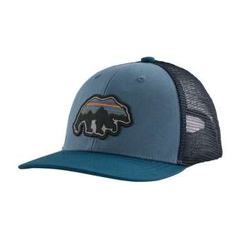 Patagonia Kids Trucker Keps Back For Good Bear: Pigeon Blue