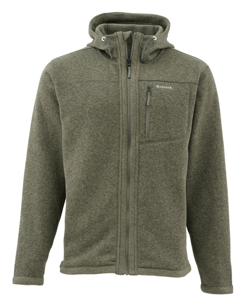 Simms Rivershed Full Zip Hoody Loden - S