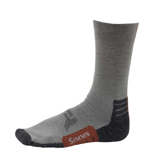 Simms Guide Lightweight Crew Sock Gunmetal - XL