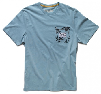Howler Bros T-Shirt Pale Blue Palm Pocket