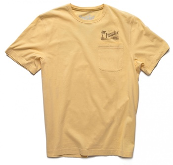 Howler Bros T-Shirt Pale Yellow: Flocked Paradise
