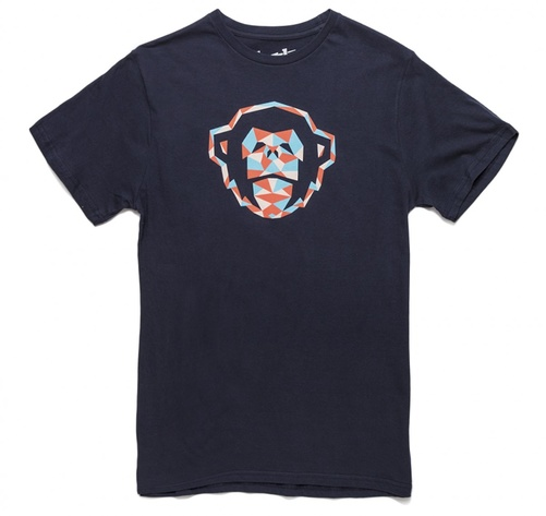 Howler Bros T-Shirt Monkey Geometry Navy