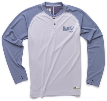 Howler Bros Loggerhead Shirt Light Grey/Pigeon Blue
